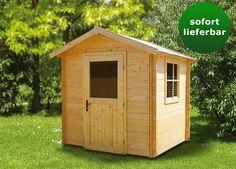 """Gartenhaus """"Wiesenblume"""" - 2,20 x 2,20 Meter aus 19 mm Blockbohlen"""