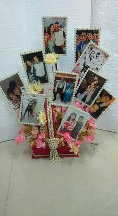 photo bouquet, when you've to gift something small in big basket Photo Bouquet, Gift Bouquet, Indian Wedding Gifts, Indian Wedding Decorations, Wedding Gift Wrapping, Wedding Card, Trousseau Packing, Diwali Craft, Marriage Gifts
