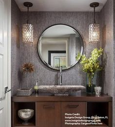 Tuscan bathroom design is said to be a perfect combination of sheer indulgence and timeless beauty. When designing a bathroom, … Bathroom Accent Wall, Bathroom Accents, Mosaic Bathroom, Bathroom Vanities, Tuscan Bathroom Decor, Modern Bathroom, Small Bathroom, Modern Powder Rooms, Powder Room Design