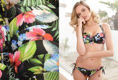 Palm Springs Strapless Gel Bikini Set with Tie-Sides - Floral Palm Springs, Bikini Set, Sewing, Floral, Handmade, Style, Swag, Dressmaking, Hand Made