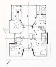 Haus Steiger, R. und F. Steiger, Bergstrasse, Zürich, 1963