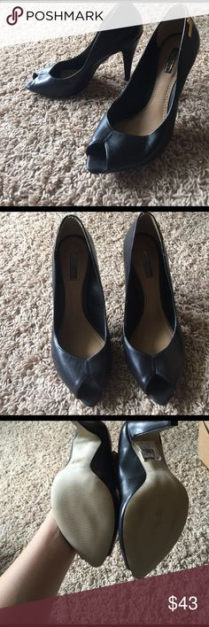 Dumond brand black peep toe heels Size 7, never been worn peep toe heels. They're cute and comfy to walk in just not my style. Dumond Shoes