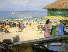Beach Scene 5 - Edward Henry Potthast (1857-1927)