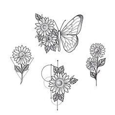 Amanda Fonseca no In Hand Tattoos, Small Tattoos, Sleeve Tattoos, Cool Tattoos, Tatoos, Circle Tattoos, Sunflower Tattoo Simple, Sunflower Tattoos, Sunflower Tattoo Design