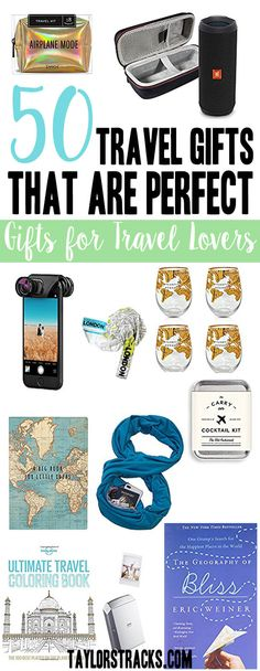 Have no idea what travel gifts to get for the travel lover on your list? Look no further! Click here to get fun, practical and must-have items for every traveler. #travelgifts #travelgiftideas *******************************Travel gift ideas | Travel gifts | Travel gift ideas for him | Travel gift ideas for women | Travel present | Travel present ideas | Camera accessories | GoPro accessories | Travel books