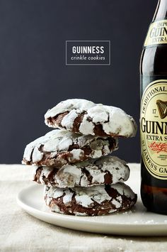 Visit The Sweetest Occasion for 17 Guinness recipes sure to satisfy your St. Patrick's Day fix! Ice cream, brownies and cocktail recipes galore! Guinness Recipes, Beer Recipes, Irish Recipes, Cookie Recipes, Dessert Recipes, Recipies, Beer Cookies, Cupcake Cookies, Chip Cookies