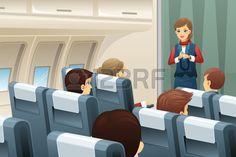 Havaalanı, uçak, hostes, uçuş