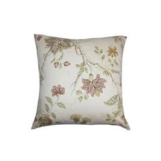 """The Pillow Collection Ululani Floral Cotton Throw Pillow Color: Spice, Size: 18"""" x 18"""""""