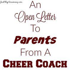 An Open Letter From A Volunteer Cheer Coach
