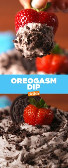 This Oreogasm Dip lives up to its name. Get the recipe from Delish.com.