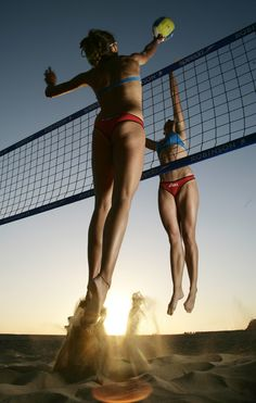 Beachvolleyball, Beach Volleyball, Shooting on Fuerteventura with Ilka Semmler and Katrin Holtwick (GER)