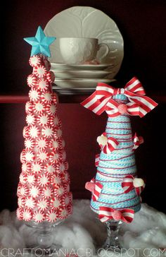 Candy Christmas Topiary Trees