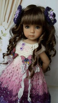 "OOAK Outfit for doll 13"" Dianna Effner Little Darling) collection romantic  #DiannaEffner"