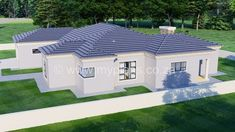 3 Bedroom House Plan - My Building Plans South Africa Round House Plans, Split Level House Plans, Tuscan House Plans, Square House Plans, Metal House Plans, My House Plans, Family House Plans, My Building, Building Plans
