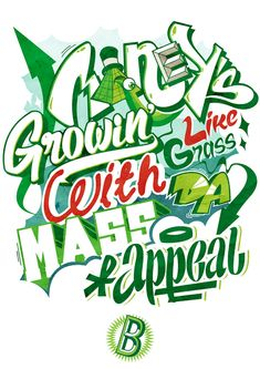 Hip Hop lines inspired Typo by Tomer Mor, via Behance