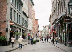Pedestrians in Montreal Canada