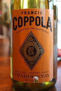 Francis Coppola Diamond Collection Gold Label Chardonnay 2009 - Bridging The Great Divide. $10