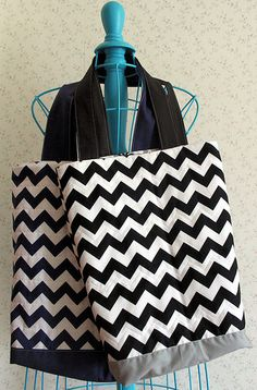 Create a Modern Quilted Chevron Tote Bag - Free Tutorial