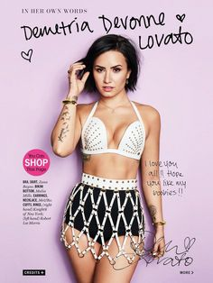 Demi Lovato Cosmopolitan September cover issue scan #3 http://demilovatophotos.com/thumbnails.php?album=333 …