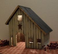 Lighted Saltbox Houses - Beth's Country Primitive Home Decor & Quilted Bedding