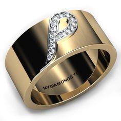 Biaggio Men's Initial Diamond Ring 0.16ct