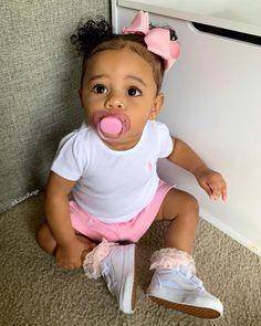 Cute Mixed Babies, Cute Black Babies, Beautiful Black Babies, Cute Little Baby, Pretty Baby, Little Babies, Cute Babies, Baby Kids, Mix Baby Girl