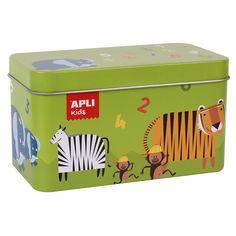 Állatos-számos dominó fémdobozban, 3 éves kortól - Apli Kids Schmidt, Jungle Speed, Junior, Puzzles, Memories, Kids, Products, Crates, Mathematical Logic