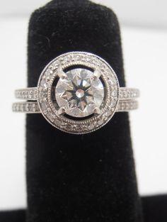 Estate Antique Platinum & Diamond engagement ring 90 by gems4borth, $2695.00