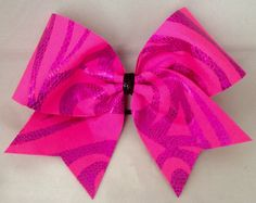 Cheer Bow - Pink on Pink Pattern by FullBidBows on Etsy https://www.etsy.com/listing/169608731/cheer-bow-pink-on-pink-pattern