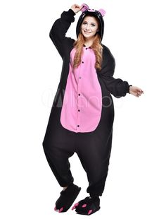 Stylish Black Pink Pig Kigurumi Anime Costume - Milanoo.com