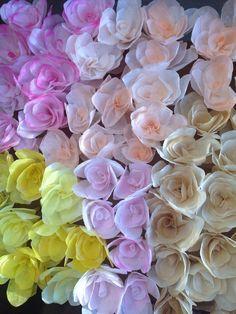 Bulk paper flowers 120 coffee filter flowers paper roses with rose coffee filter flower paper rose with stem mightylinksfo
