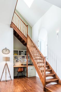 Image 25 of 27 from gallery of The Chapel on the Hill / Evolution Design. Courtesy of Evolution Design Contemporary Interior, Modern Interior Design, Office Under Stairs, Evolution Design, Chapel Conversion, Suburban House, House On A Hill, Chapelle, Design Case
