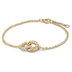 David Yurman Belmont Curb Link Pendant Bracelet with Diamonds in 18K... (7,125 SAR) ❤ liked on Polyvore featuring jewelry, bracelets, david yurman pendant, 18k gold jewelry, diamond bangles, gold pendant and david yurman bangle