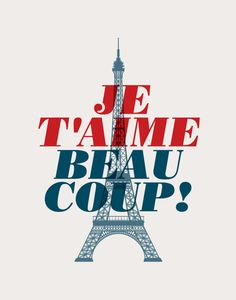 Inspirational Quote Love Je T'Aime Beaucoup by TheMotivatedType