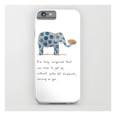 Polka Dot Elephants Serving Us Pie IPhone 6s Slim Case iPhone & iPod Case by Marc Johns. Illustration, Children's, Humor, Animals. Protect your iPhone with a o…
