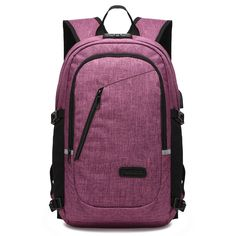 Anti-theft Business Laptop Backpack w/ USB Charging Port Headphone Compartment and Security Lock Fits 17 inch laptop and Notebook Waterproof School Rucksack Women Knapsack Travel Daypack College Book bag Backpack inch, Purple) Laptop Backpack, Backpack Bags, Fashion Backpack, College Book Bag, 17 Inch Laptop, Business Laptop, North Face Backpack, Usb, Backpacks