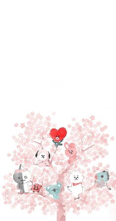 Bts wallpaper fanart chibi 25 Ideas for 2019 Bts Chibi, Kawaii Wallpaper, Iphone Wallpaper, Tree Wallpaper, Chibi Wallpaper, Wallpaper Wallpapers, Wallpaper Ideas, Bts Wallpaper Lyrics, Bts Backgrounds