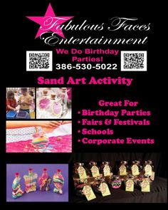 Sand Art Bottles Gainesville Florida Professional Face Paint