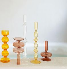 Cheap Candle Holders, Glass Candlestick Holders, Taper Candle Holders, Vintage Candle Holders, Glass Votive, Tapas, Bubble, Painted Candlesticks, Beautiful Living Rooms