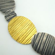 Lined Ovals Neckpiece | Contemporary Necklaces / Pendants by contemporary jewellery designer Jessica Briggs