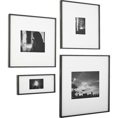 Shop gallery carbon picture frames. Exhibit your favorite photos gallery-style. Creating a display of modern proportions, oversized white mat floats within a sleek frame of matte carbon aluminum.