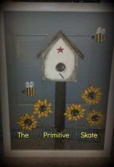PRIMITIVE BIRDHOUSE PICTURE