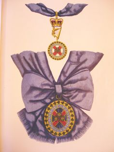 Badges of the Order of St Patrick. Top Badge of the Grand Master of the Order. Bottom Badge and Riband of a Knight Companion of the Order, History of the Orders of Knighthood of the British Empire, Sir Nicholas Harris 1842.