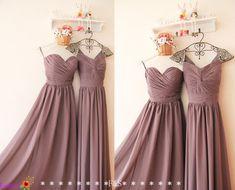 Long Grey Bridesmaid Dress Light Grey Bridesmaid by FashionStreets