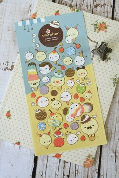 45 PCS Kawaii Die Cut Cute White Cat Face Flake Sticker Sack Scrapbooking Craft