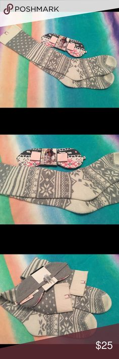 Brand New VS Fair Isle Socks & Sleep Mask 💕 Victoria's Secret Fair Isle Socks Brand New and Victoria's Secret Sleep mask Brand New.  See pictures.  No trades.  No Holds lAll offers or (lowest ?'s) please use make offer button only please (reasonable offers). Thanks for looking and Happy Poshing! :) Victoria's Secret Accessories Hosiery & Socks