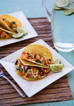sweet potato quinoa tacos w/ chipotle sauce / via mint design blog / via some the wiser