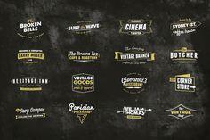 16 Wordmark Logos by Scott Byrne Design on @creativemarket