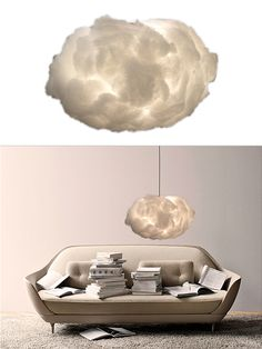 CLOUD Lampshade by Vita | moddea I loved laying down looking at cloud shapes when I was a kid.  Totally cool lampshade.