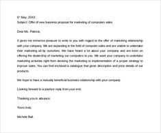Sample Business Proposal Letter To Download